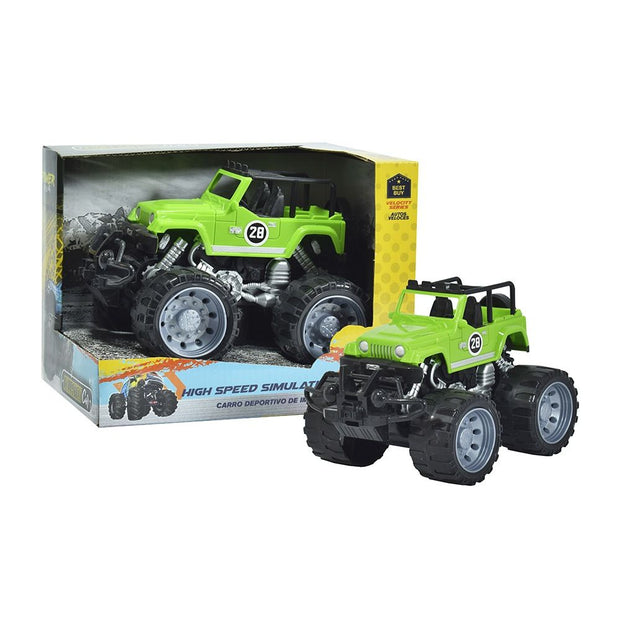 Carro Deportivo de Impulso Monster Verde 3+