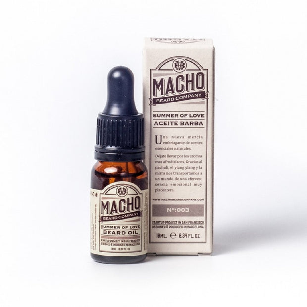 Aceite Barba Summer of Love Macho Beard Comany. Afrodisiaco Y Sensual