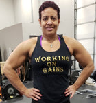 "Women's ""Working On Gains"" Racer Back Top"
