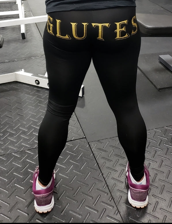 "Women's ""Glutes/Training"" spandex leggings"