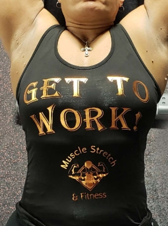"Women's ""Get To Work"" Racer Back Top"