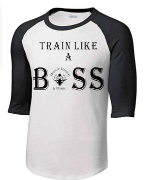 "Men's 3/4 Sleeve "" Train Like A Boss"""
