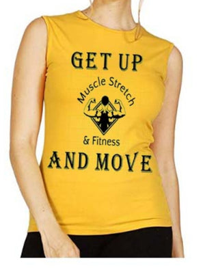 "Women's ""Get Up And Move"" Sleeveless Shirt"