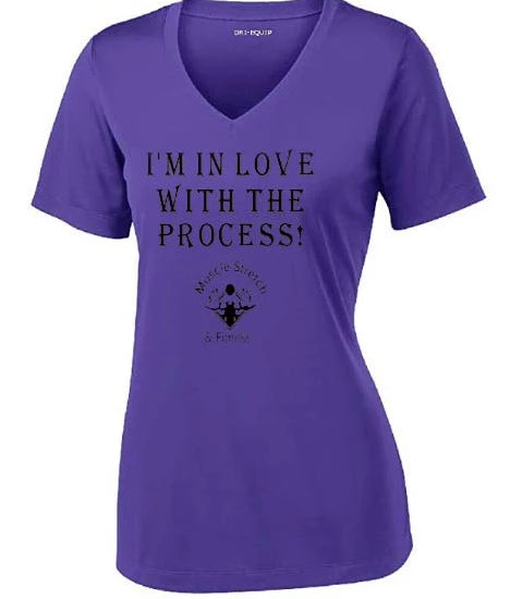 "Women's Short Sleeve Moisture Wicked Athletic Shirt ""I'm In Love With The Process"""