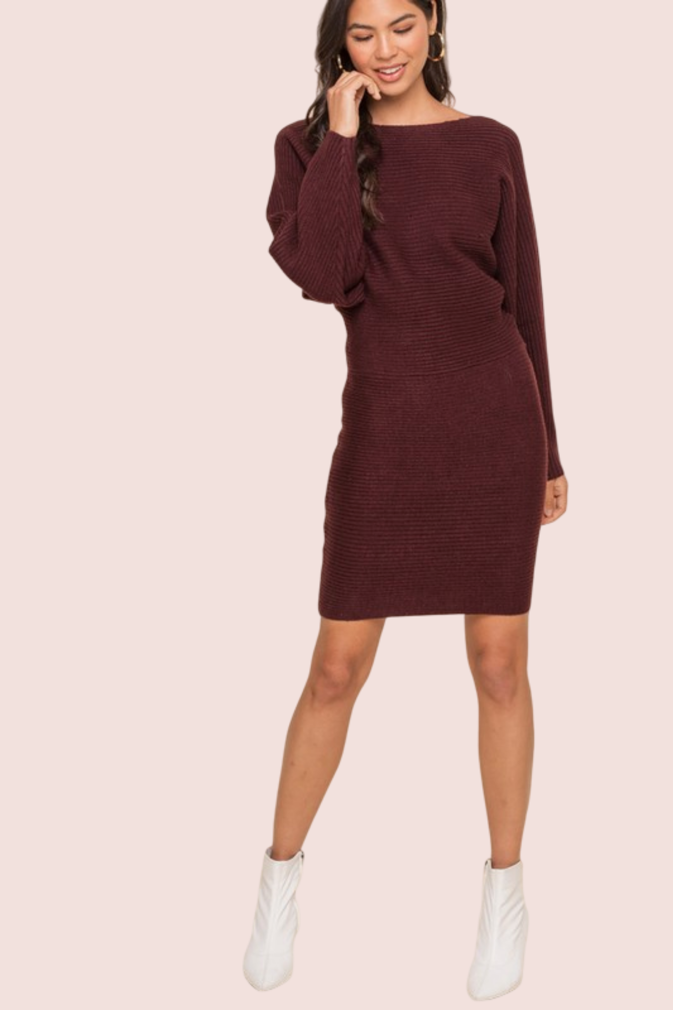 BIANCA L/S SWEATER DRESS