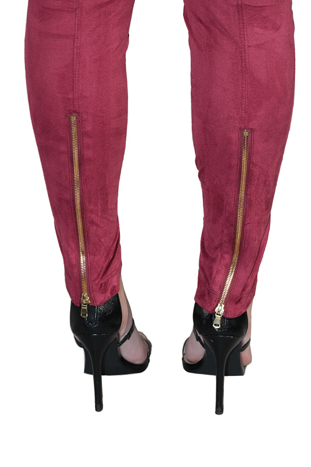 LARISSA FAUX SUEDE LEGGINGS