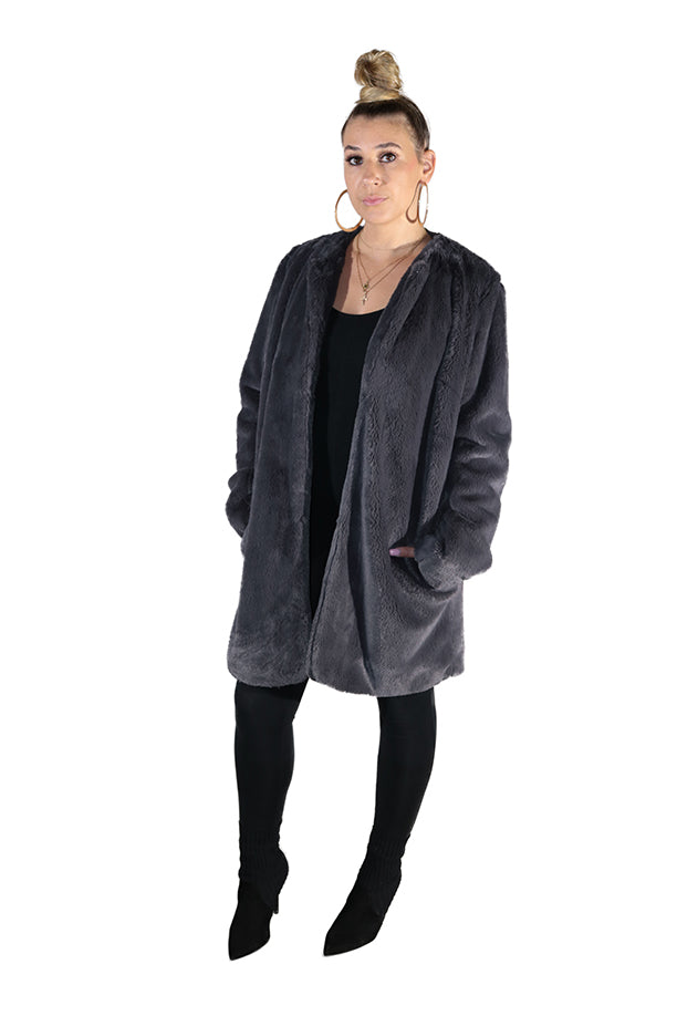 STELLA FAUX FUR COAT