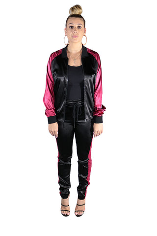Jackie Faux Leather Joggers