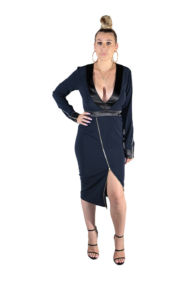 TAUCHA ZIP UP DRESS