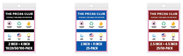 THE PRESS CLUB CHOOSING THE RIGHT SIZE ROSIN BAG FOR YOUR PRESS PLATES