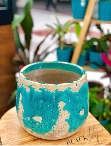 XL Teal Ceramic Pots