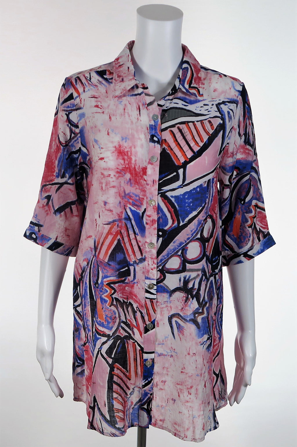 1/2 Sleeve Abstract Painter's Shirt
