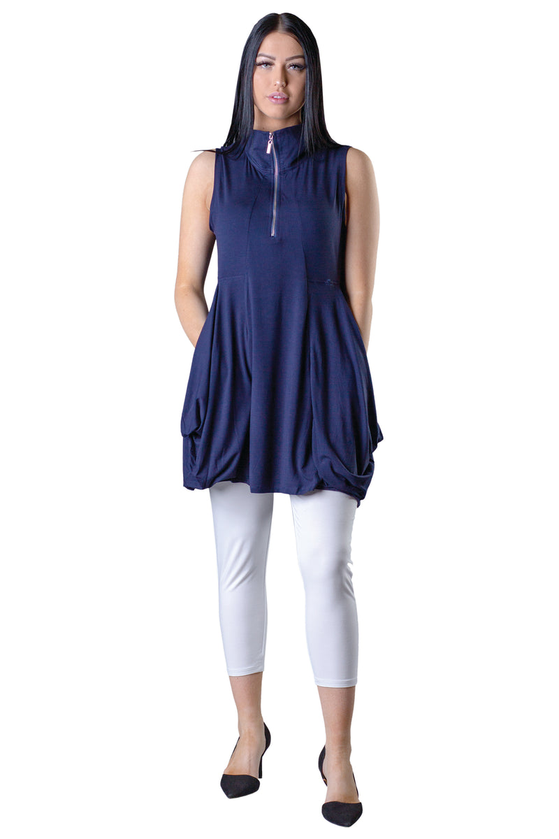 Sleeveless Tunic w/Pockets
