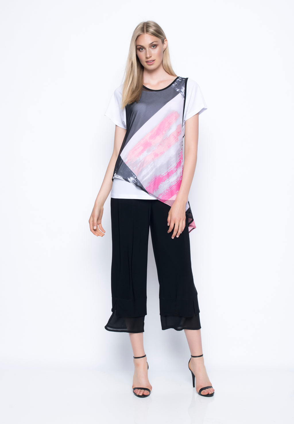 Short Sleeve Top w/Asymmetrical Hem