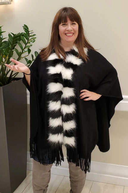 Cape w/Two-Tone Fur
