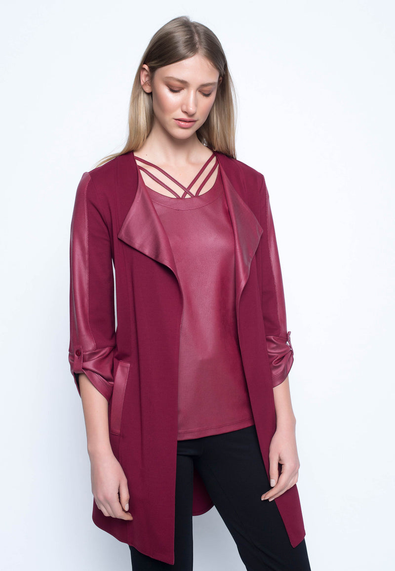 Contrast-Trim Jacket
