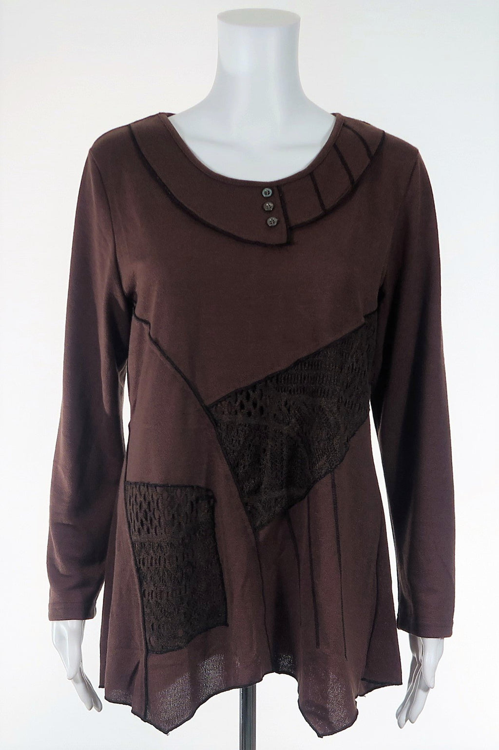Multi-Fabric Tunic