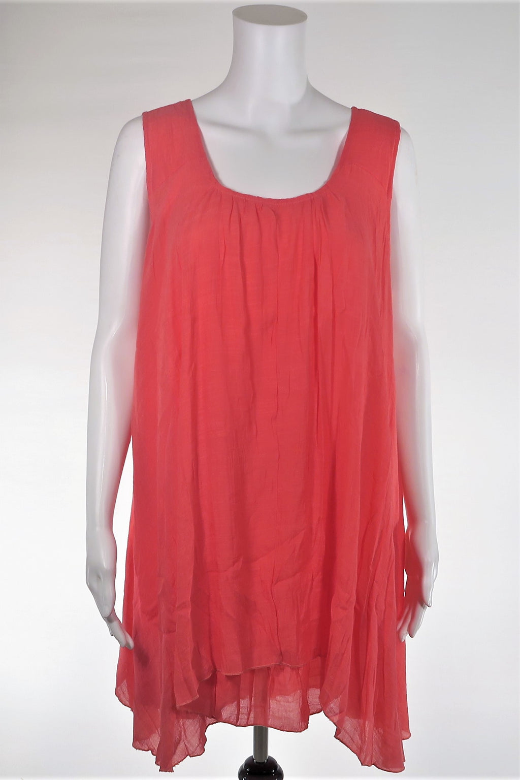 Sleeveless Crinkle Gauze Tunic