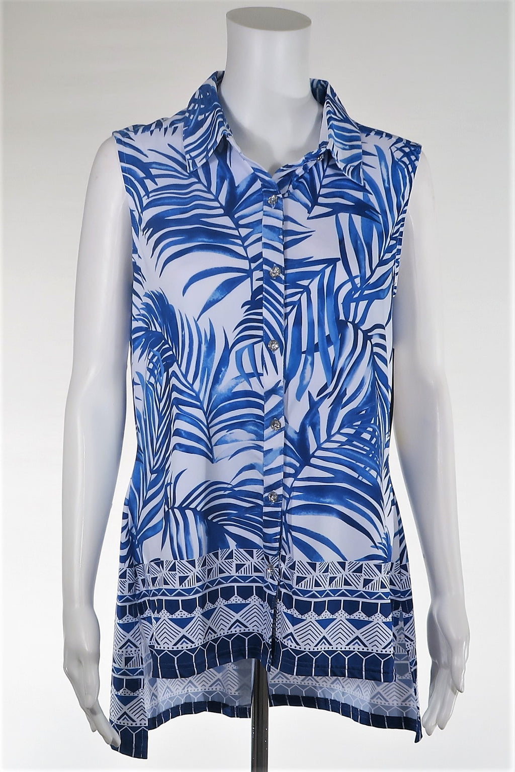 Fern Patterned Top w/Pleated Back