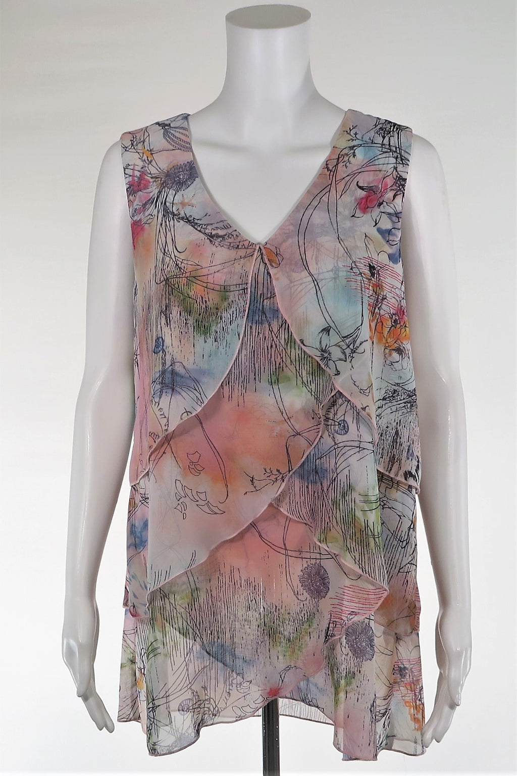 Print Sleeveless Top