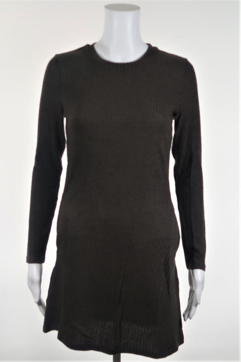 Ribbed Sweater Dress with Pockets