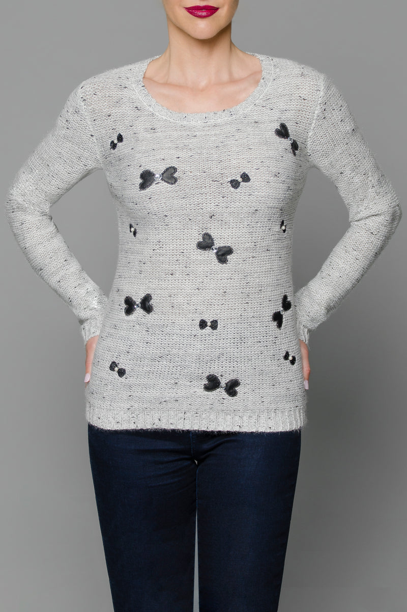 All-over Bow Sweater