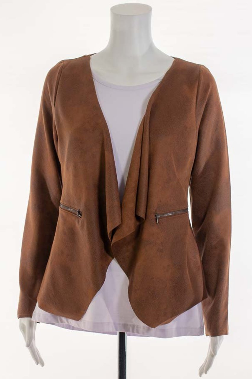 Faux Leather Jacket - Short
