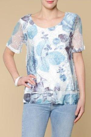 Printed Layered Top - Leaves