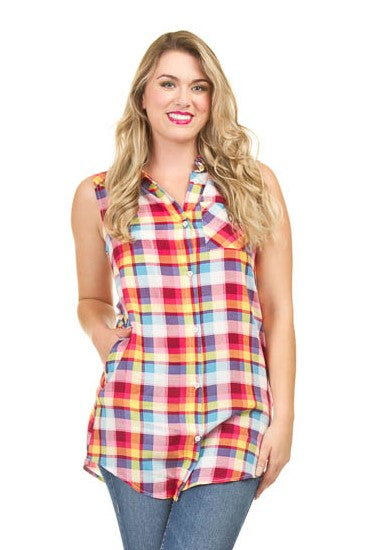 Pink Plaid Tunic