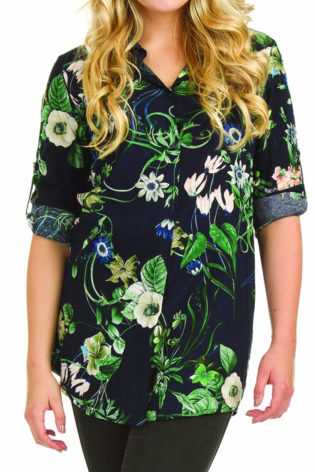 Tropical Print Tunic
