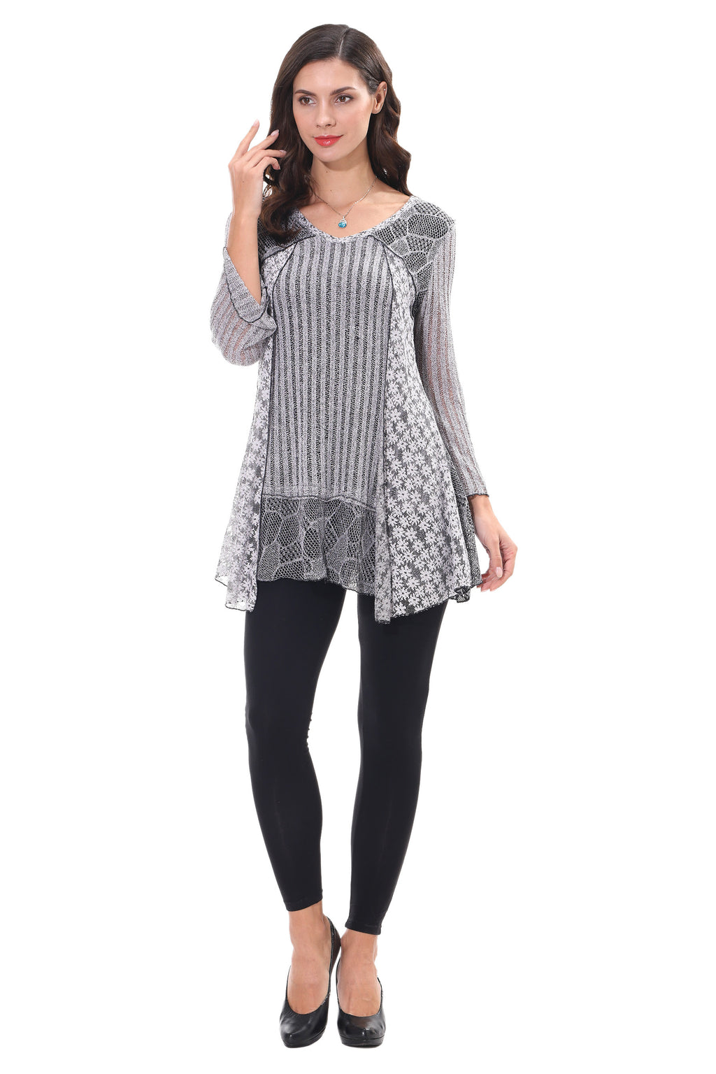 Layered Bell Sleeve Tunic