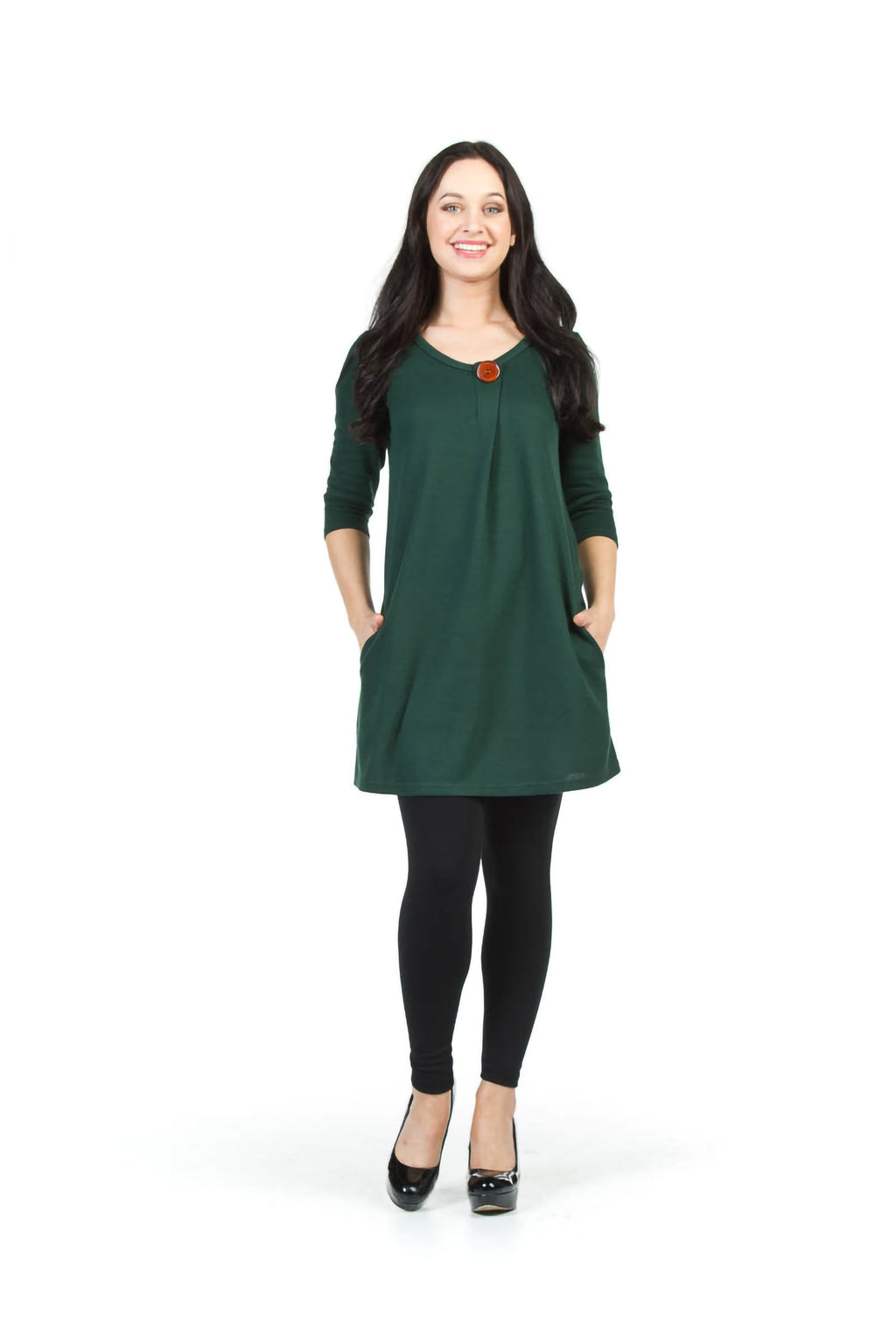 Button Top Sweater Dress