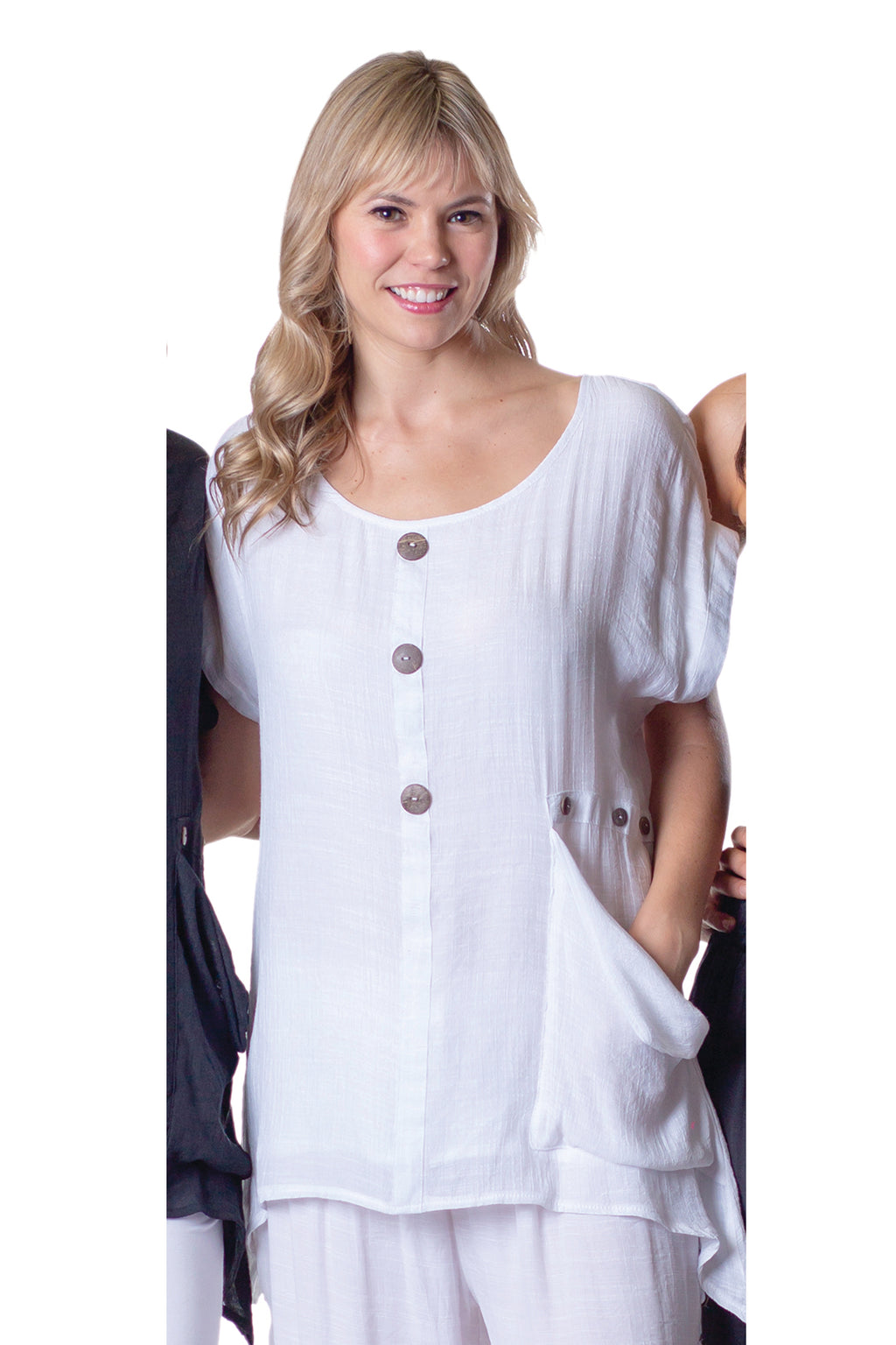 Layered Button Front Tunic