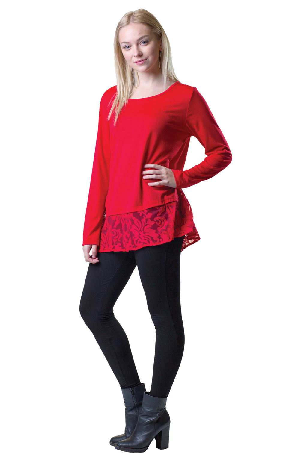 Lace Hemmed Tunic