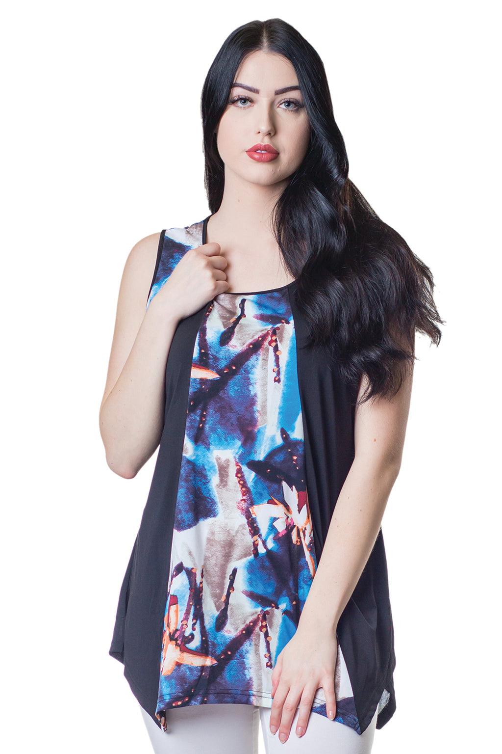 Sleeveless Panel Tunic