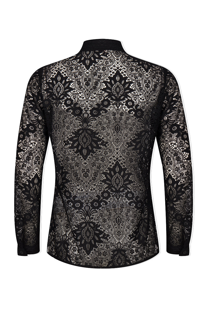 Lace Button Shirt