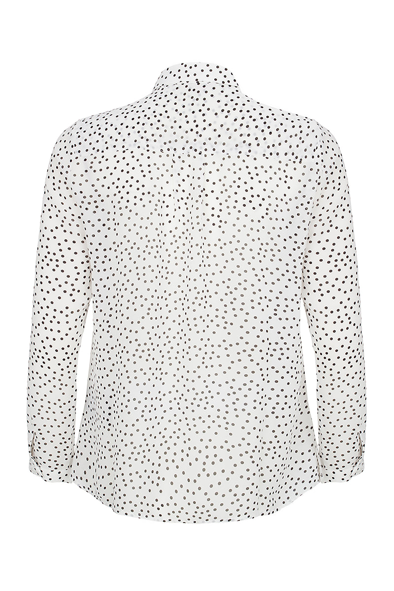 Polka-dot and Lace Blouse