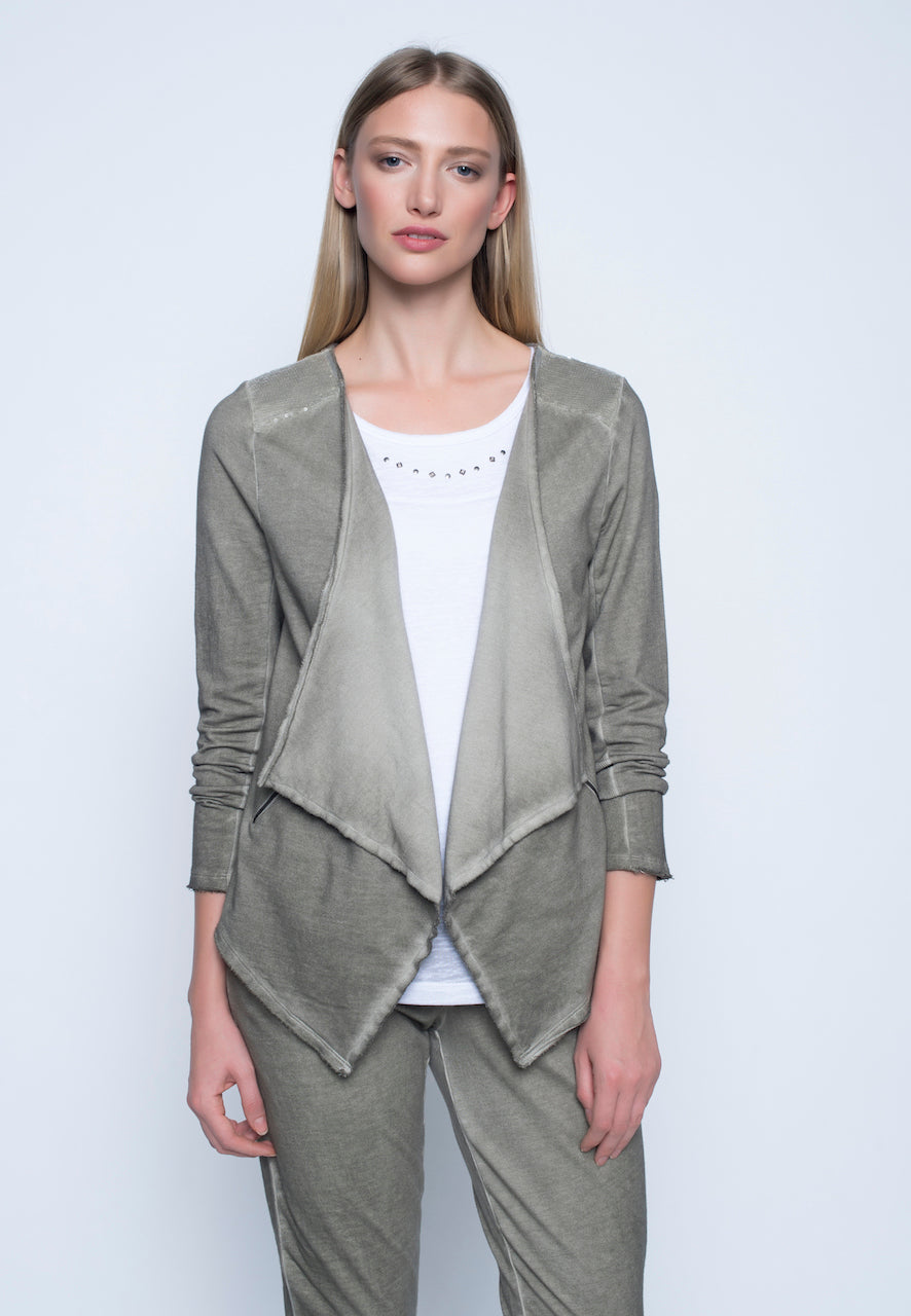 Zip-Trim Open Front Jacket