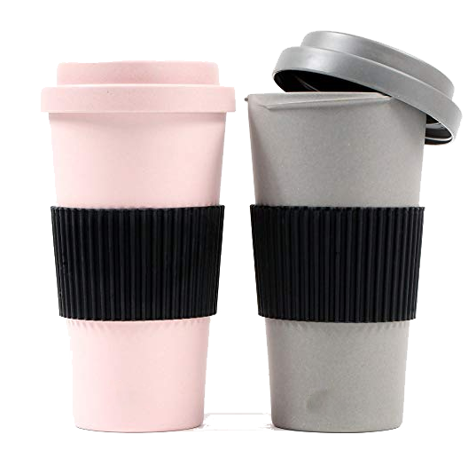 Biodegradable Bamboo Coffee Cup 12/16oz