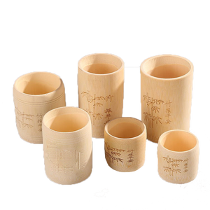 Authentic Japanese Bamboo Cups