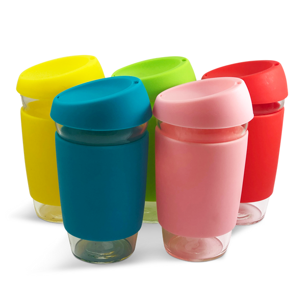Reusable Glass/Silicone Cup 16oz