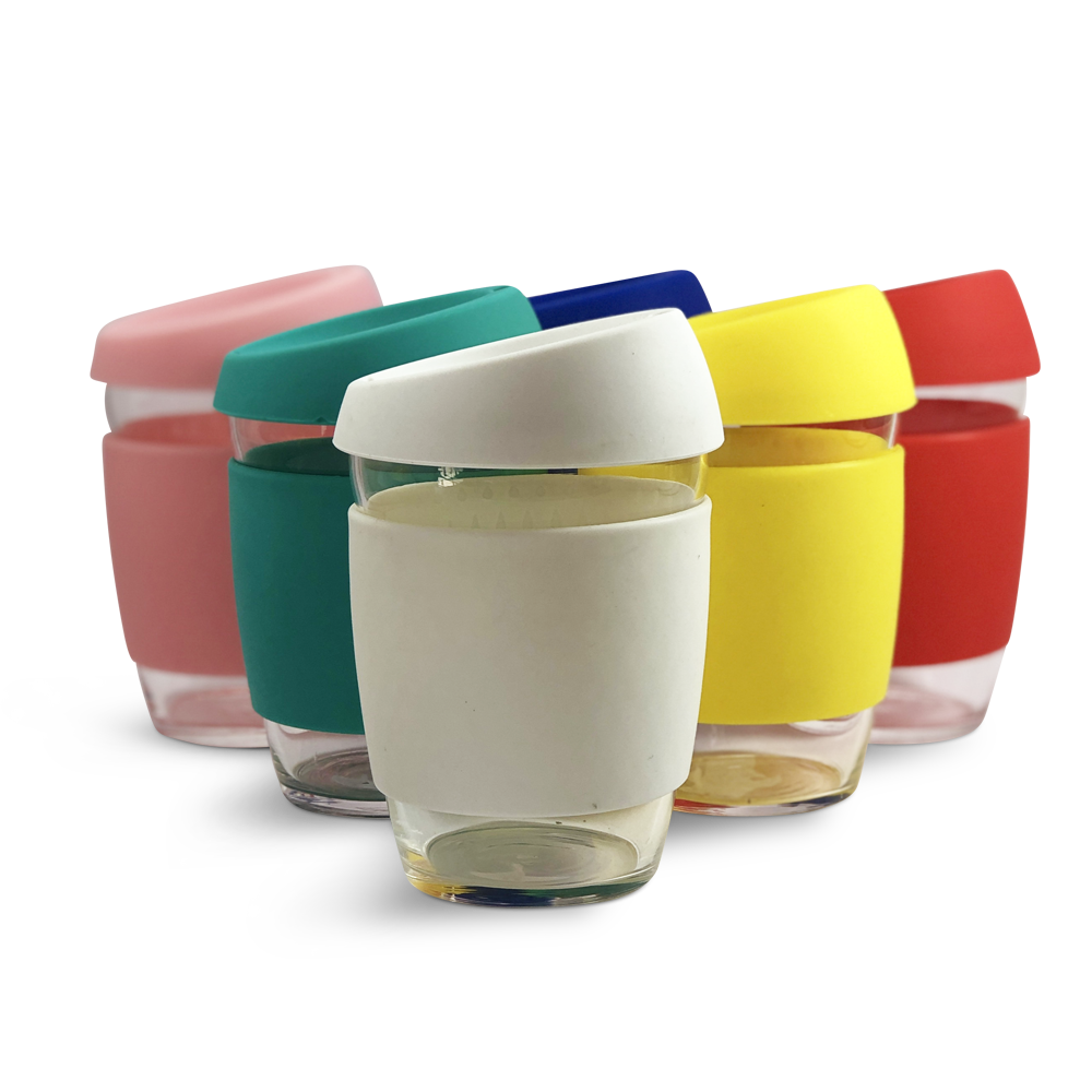 Reusable Glass/Silicone Cup 12oz