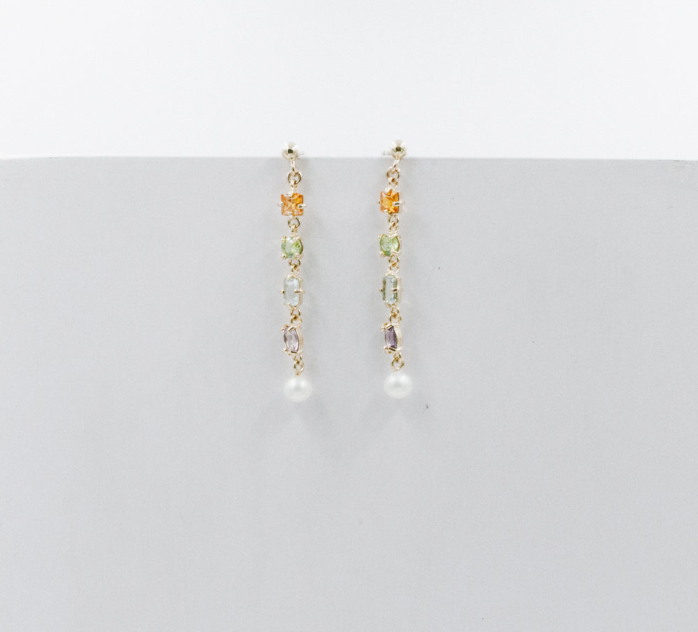 Amalfi earrings yellow gold long