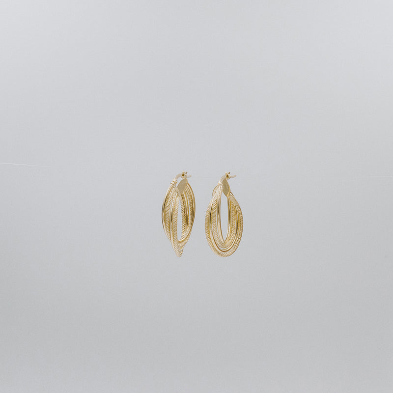 Ancient Oval Earrings