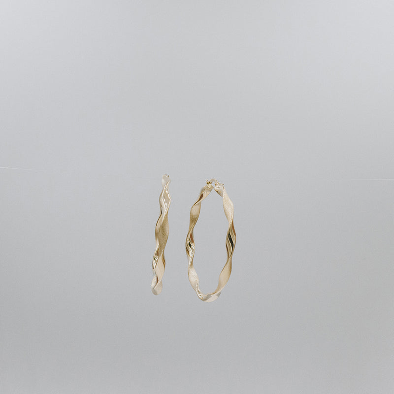 Candy yellow gold hoops Large