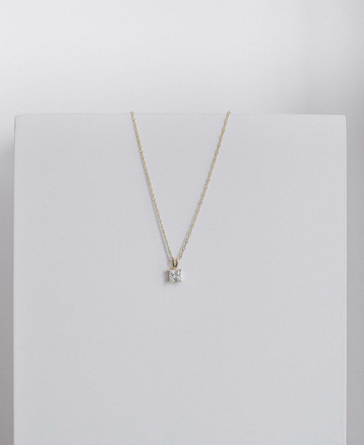 Square Zirconia Necklace