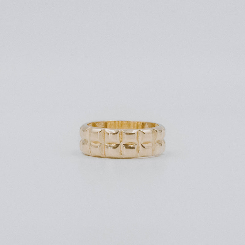 Deco carré ring