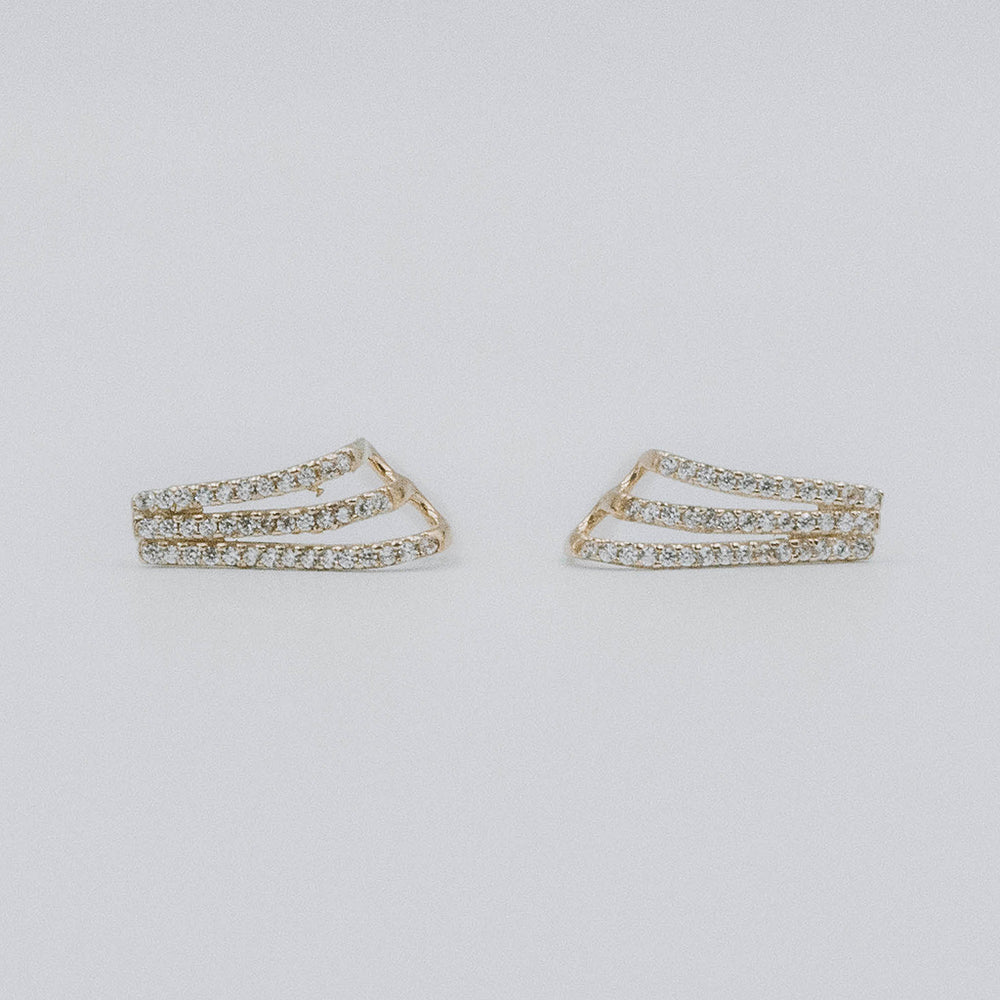 Deco curve earrings