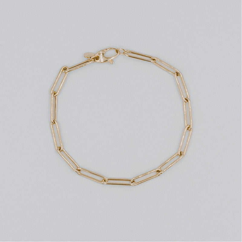 Oval light link bracelet