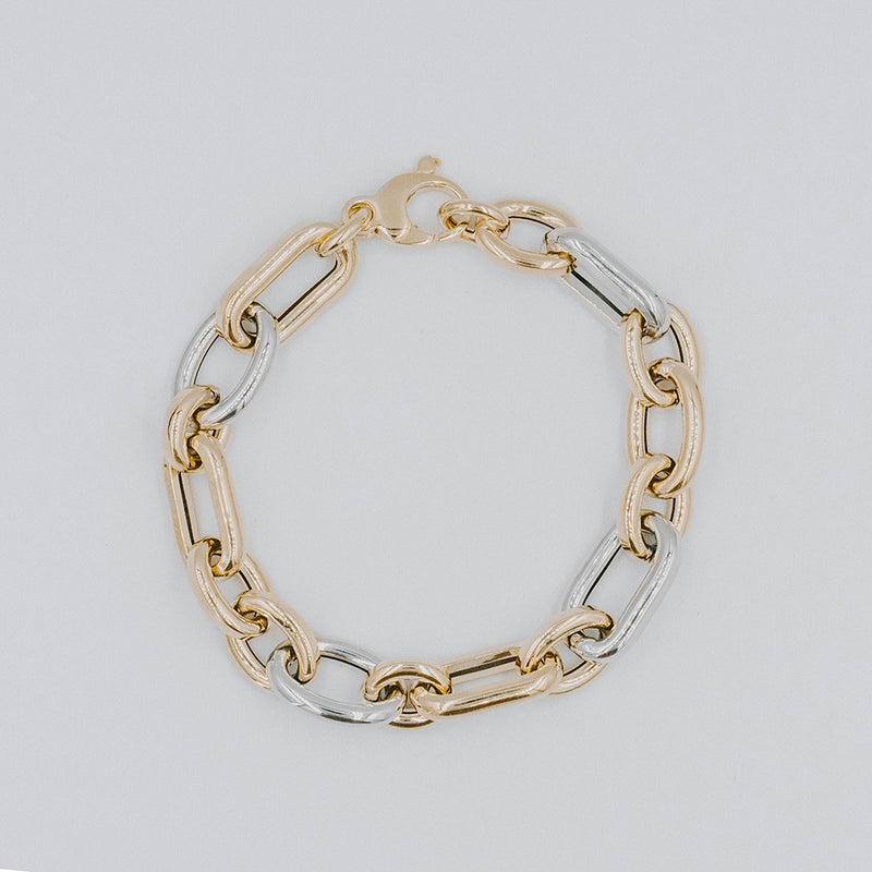 Chunky mixed chain bracelet